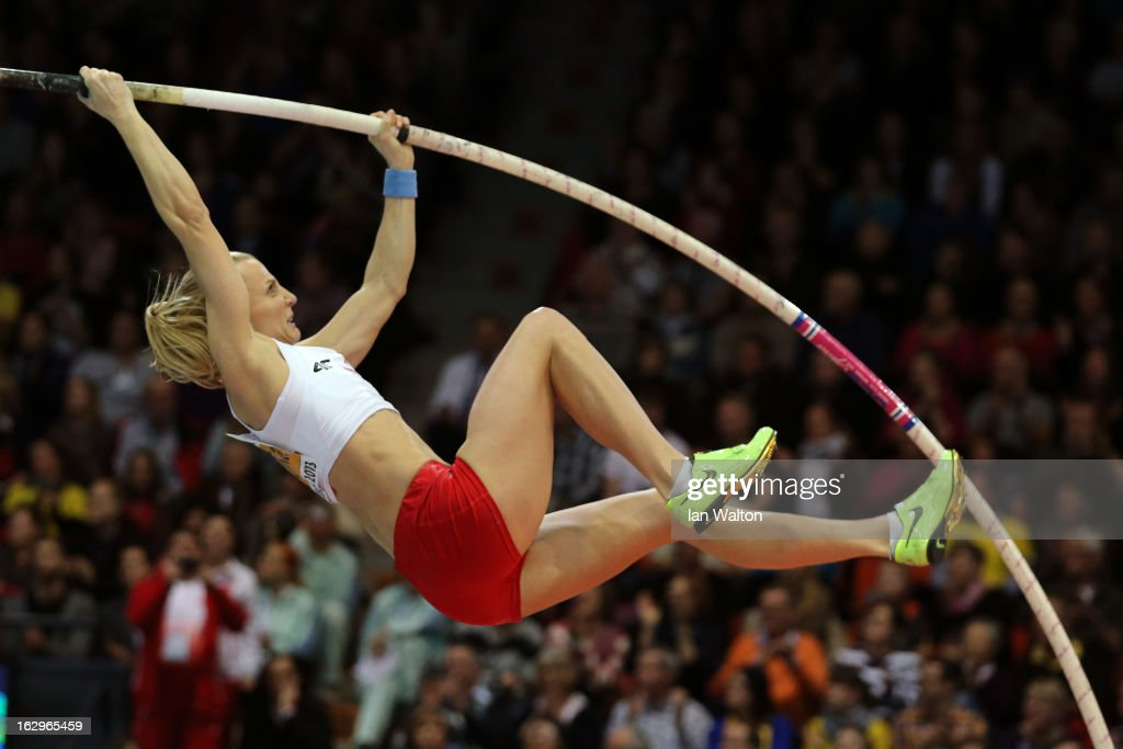 <a gi-track='captionPersonalityLinkClicked' href=/galleries/search?phrase=Anna+Rogowska&family=editorial&specificpeople=790729 ng-click='$event.stopPropagation()'>Anna Rogowska</a> of Poland competes in the Women's Pole Vault Final during day two of the European Athletics Indoor Championships at Scandinavium on March 2, 2013 in Gothenburg, Sweden.