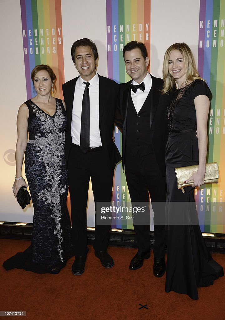Anna Romano, <a gi-track='captionPersonalityLinkClicked' href=/galleries/search?phrase=Ray+Romano&family=editorial&specificpeople=201675 ng-click='$event.stopPropagation()'>Ray Romano</a>, <a gi-track='captionPersonalityLinkClicked' href=/galleries/search?phrase=Jimmy+Kimmel&family=editorial&specificpeople=214115 ng-click='$event.stopPropagation()'>Jimmy Kimmel</a> and Molly McNearney attend the 35th Kennedy Center Honors at the Kennedy Center Hall of States on December 2, 2012 in Washington, DC.