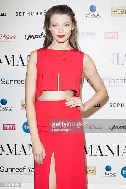 Anna Rybus attends the LaMania SS15 fashion show on December 17 2014 at Soho Factory in Warsaw Poland
