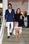Anna Safroncik and Paolo Barletta attend Day 2 of the Ischia Global Film Music 2014 on July 13 2014 in Ischia Italy