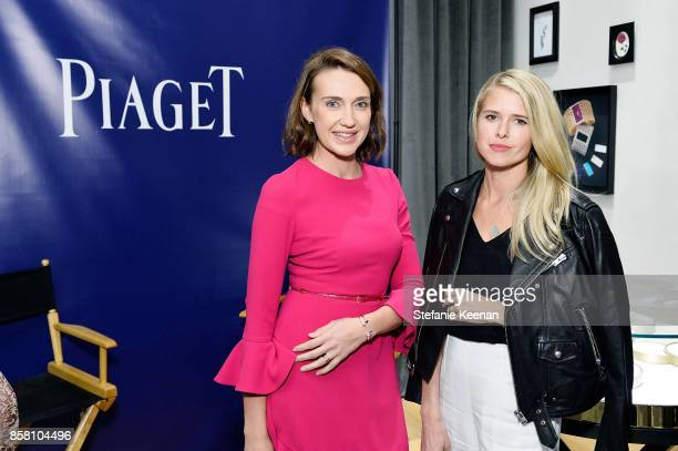 Anna Schafer and Sarah Wright Olsen attend Piaget Celebrates Brand Ambassador Michael B Jordan In Support Of Lupus LA at Piaget on October 5 2017 in...