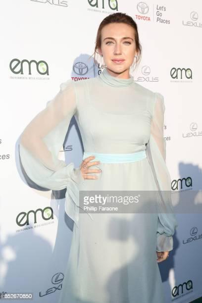 Anna Schafer at the Environmental Media Association's 27th Annual EMA Awards at Barkar Hangar on September 23 2017 in Santa Monica California