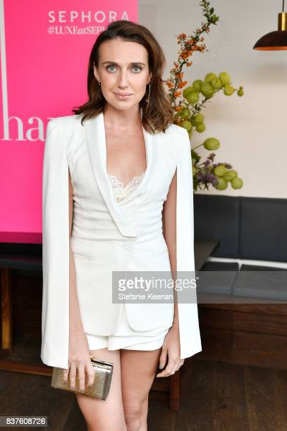 Anna Schafer attends Nina Dobrev celebrates the harper by Harper's BAZAAR September Issue with an Event Presented By Sephora In LA at Rosaline on...
