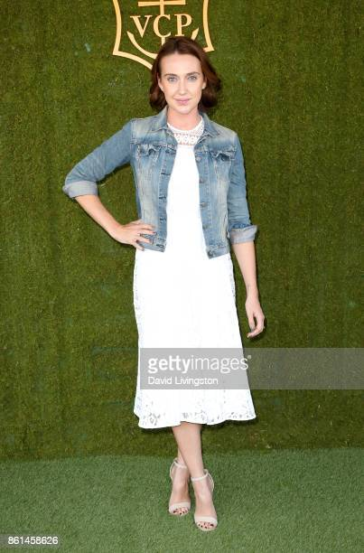 Anna Schafer attends the 8th Annual Veuve Clicquot Polo Classic at Will Rogers State Historic Park on October 14 2017 in Pacific Palisades California