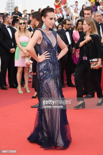 Anna Schafer attends the 'Amant Double ' screening during the 70th annual Cannes Film Festival at Palais des Festivals on May 26 2017 in Cannes France