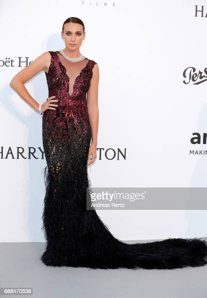 Anna Schafer attends the amfAR Gala Cannes 2017 at Hotel du CapEdenRoc on May 25 2017 in Cap d'Antibes France