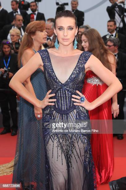 Anna Schafer attends the 'L'Amant Double 'screening during the 70th annual Cannes Film Festival at Palais des Festivals on May 26 2017 in Cannes...