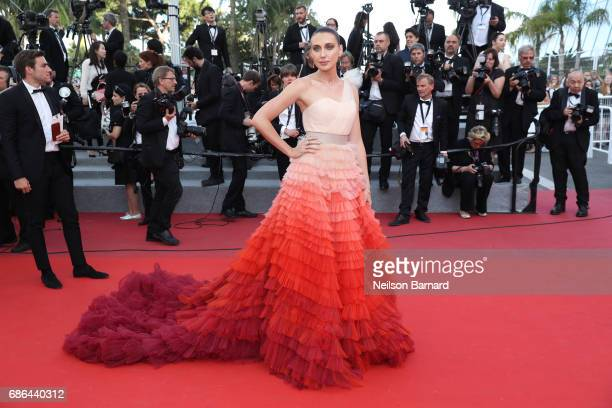 Anna Schafer attends 'The Meyerowitz Stories' screening during the 70th annual Cannes Film Festival at Palais des Festivals on May 21 2017 in Cannes...