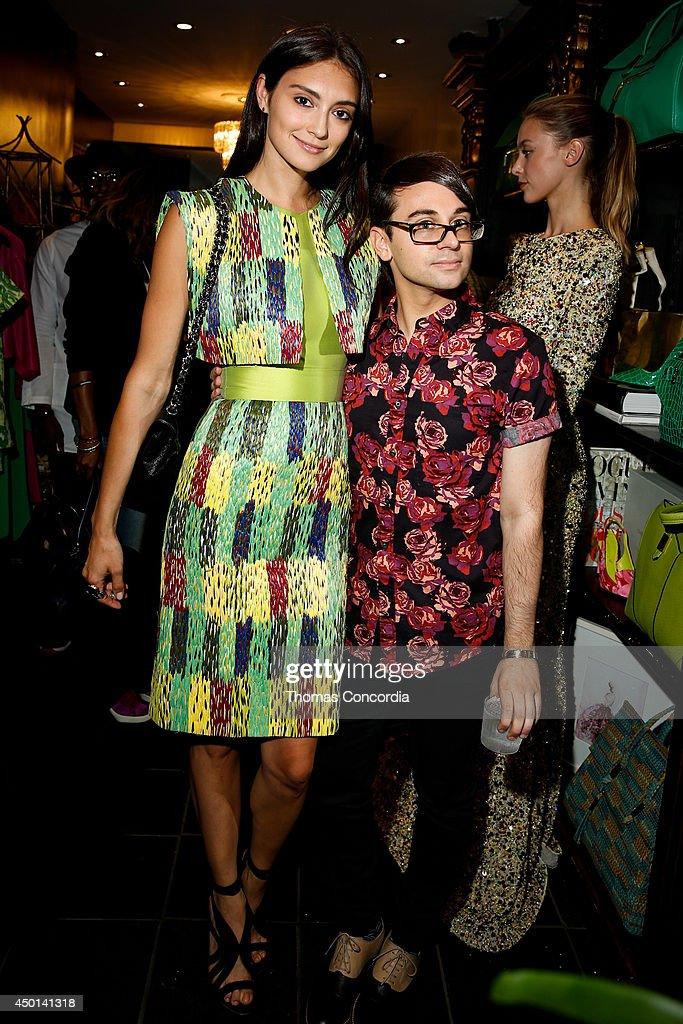 Anna Schilling and Christian Siriano attend the Christian Siriano resort 2015 preview party on June 5 2014 in New York City