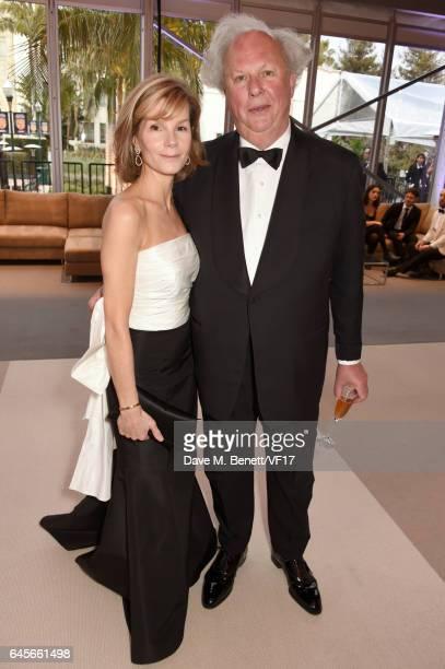 Anna Scott and host and Vanity Fair Editor Graydon Carter attend the 2017 Vanity Fair Oscar Party hosted by Graydon Carter at Wallis Annenberg Center...