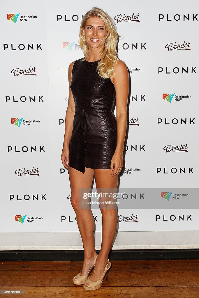 Anna Scrimshaw arrives at the PLONK media launch at Palace Verona on February 4, 2014 in Sydney, Australia.