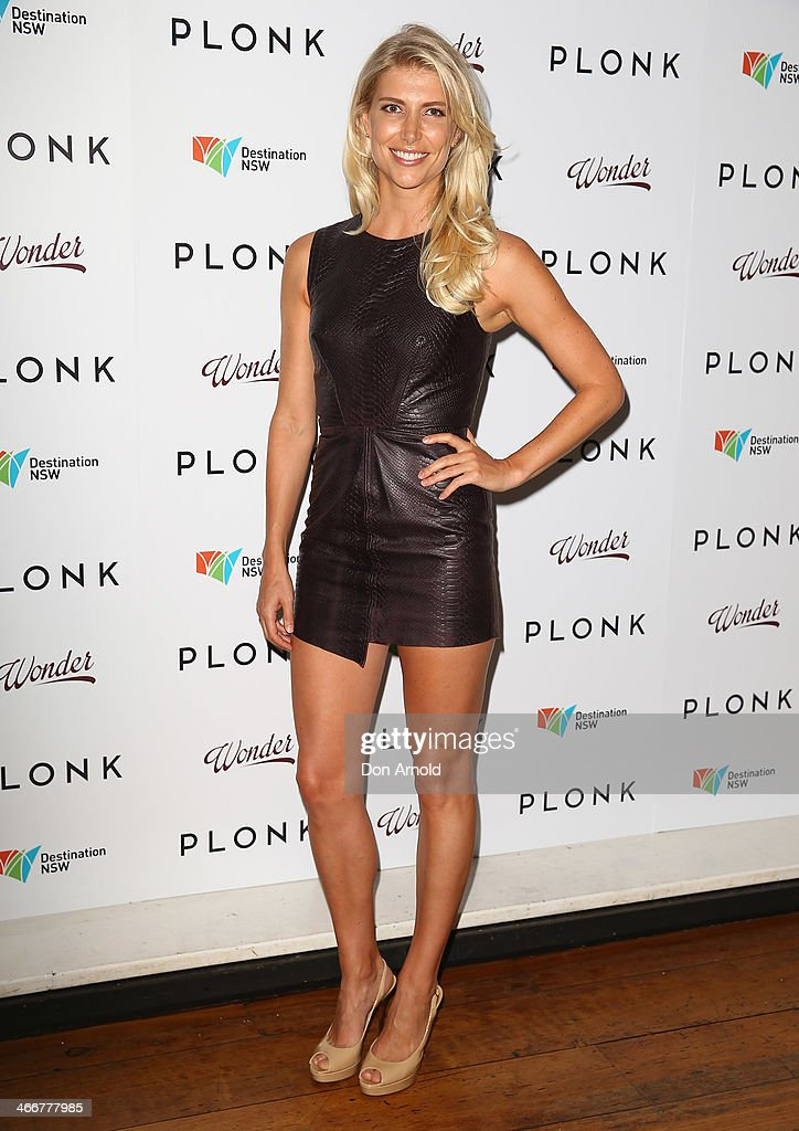 Anna Scrimshaw poses during the PLONK media launch at Palace Verona on February 4, 2014 in Sydney, Australia.