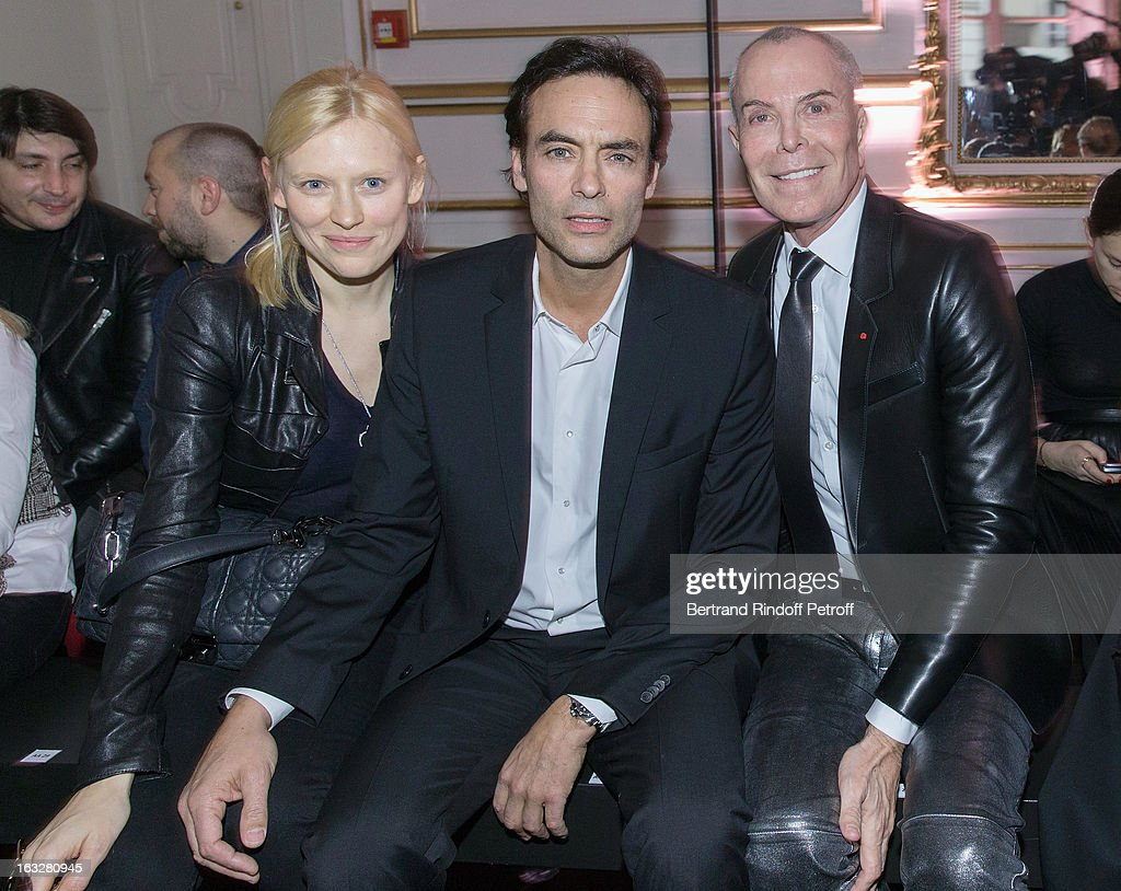 Anna Sherbinina, Anthony Delon and Jean-Claude Jitrois attend the Jitrois Fall/Winter 2013 Ready-to-Wear show as part of Paris Fashion Week on March 6, 2013 in Paris, France.