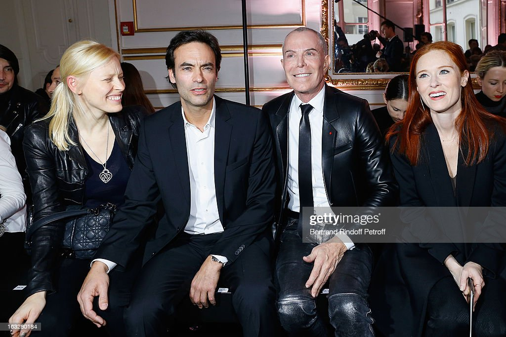 Anna Sherbinina, Anthony Delon,Jean-Claude Jitrois and Audrey Fleurot attend the Jitrois Fall/Winter 2013 Ready-to-Wear show as part of Paris Fashion Week on March 6, 2013 in Paris, France.
