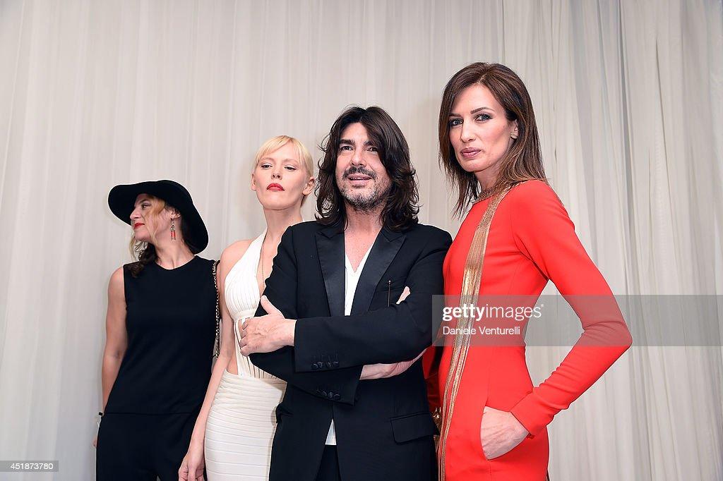 Anna Sherbinina Fashion designer Stephane Rolland and Nievez Alvarez attend Stephane Rolland show as part of Paris Fashion Week Haute Couture...