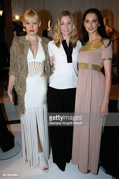 Anna Sherbinina Natacha Regnier and Frederique Bel attend the Stephane Rolland show as part of Paris Fashion Week Haute Couture Fall/Winter 20142015...