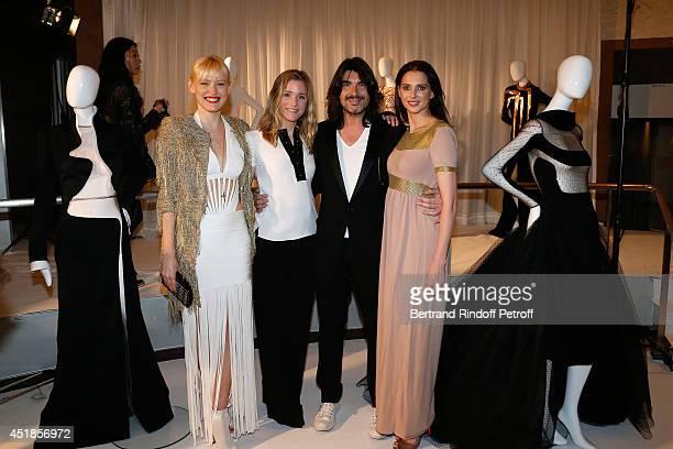 Anna Sherbinina Natacha Regnier Fashion designer Stephane Rolland and Frederique Bel attend the Stephane Rolland show as part of Paris Fashion Week...