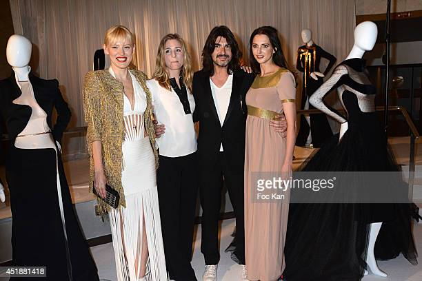 Anna Sherbinina Natacha Regnier Stephane RollandÊand Frederique Bel attend the Stephane Rolland Show as part of Paris Fashion Week Haute Couture...
