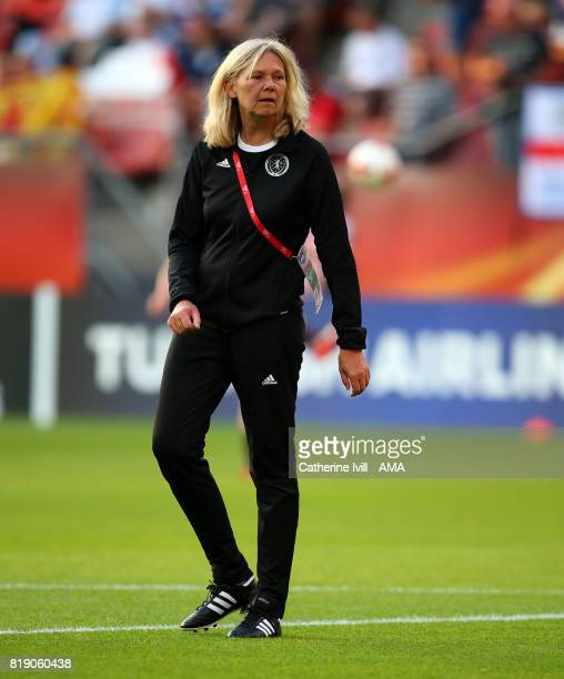 Anna Signeul manager / head coach of Scotland Women during the UEFA Women's Euro 2017 match between England and Scotland at Stadion Galgenwaard on...