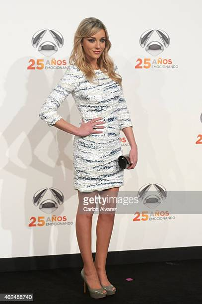 Anna Simon attends Antena 3 TV Channel 25th anniversary party at the Palacio de Cibeles on January 29 2015 in Madrid Spain