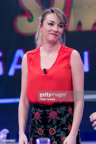 Anna Simon attends el Hormiguero Tv Show at Vertice Studio on December 10 2015 in Madrid Spain