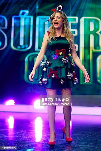 Anna Simon attends 'El Hormiguero' Tv show at Vertice Studio on December 18 2014 in Madrid Spain