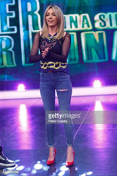 Anna Simon attends 'El Hormiguero' Tv Show at Vertice Studio on May 21 2015 in Madrid Spain