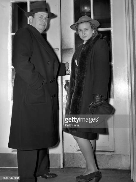 Anna Sklepovich of Gary West Virginia victim of a prank by her brother and George Allen Chairman of the President's birthday ball call at the White...