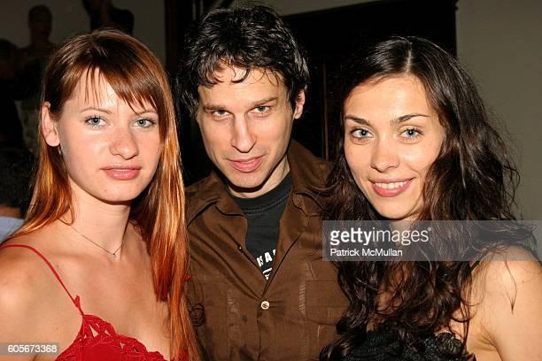 Anna Slavinskaya Chris Snyder and Lara Lupish attend The Launch of Martin Osa at Sky Studio on July 19 2006 in New York City