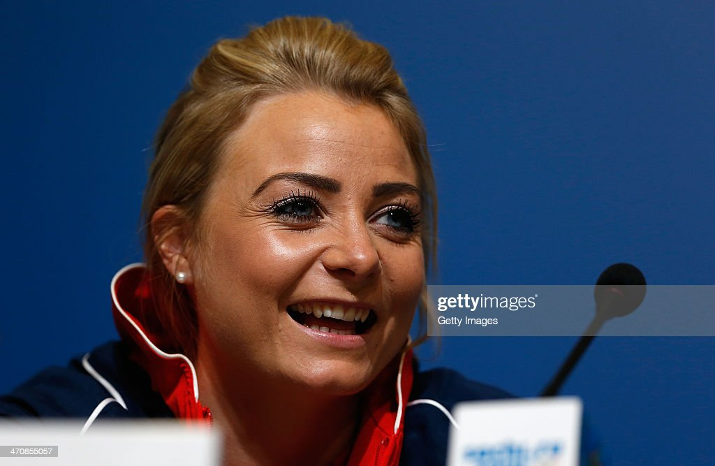 <a gi-track='captionPersonalityLinkClicked' href=/galleries/search?phrase=Anna+Sloan&family=editorial&specificpeople=7577274 ng-click='$event.stopPropagation()'>Anna Sloan</a> of the Great Britain Curling team speaks with the media during a press conference after Team GB won the bronze medal on day 13 of the Sochi 2014 Winter Olympics at the Main Press Center (MPC) on February 20, 2014 in Sochi, Russia.
