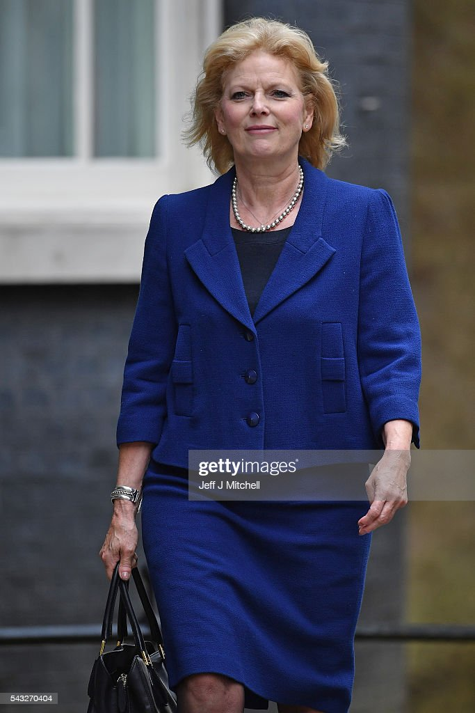 Anna Soubry, Minister for Small Business, Industry and Enterprise arrives for a cabinet meeting at Downing Street on June 27, 2016 in London, England. British Prime Minister David Cameron is due to chair an emergency Cabinet meeting this morning, after Britain voted to leave the European Union. Chancellor George Osborne spoke at a press conference ahead of the start of financial trading and outlining how the Government will 'protect the national interest' after the UK voted to leave the EU.