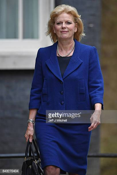 Anna Soubry Minister for Small Business Industry and Enterprise arrives for a cabinet meeting at Downing Street on June 27 2016 in London England...