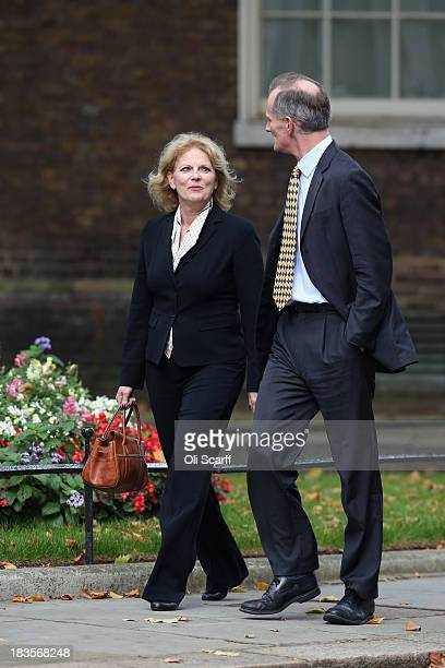 Anna Soubry MP arrives at Number 10 Downing Street on October 7 2013 in London England British Prime Minister David Cameron announced a Government...