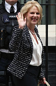 Anna Soubry the new Minister of State at the Ministry of Defence departs Downing Street on July 15 2014 in London England British Prime Minister...