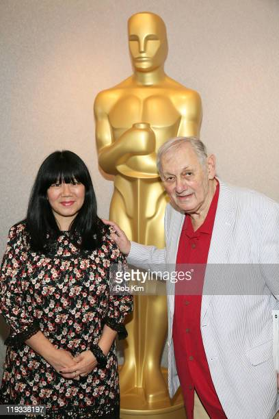 Anna Sui and Murray Lerner attend the AMPAS' Monday Nights With Oscar Screening of 'Festival' at the Academy Theater at Lighthouse International on...