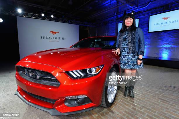 Anna Sui attends Mustang Unleashed collection presentation at Highline Stages on September 18 2014 in New York City
