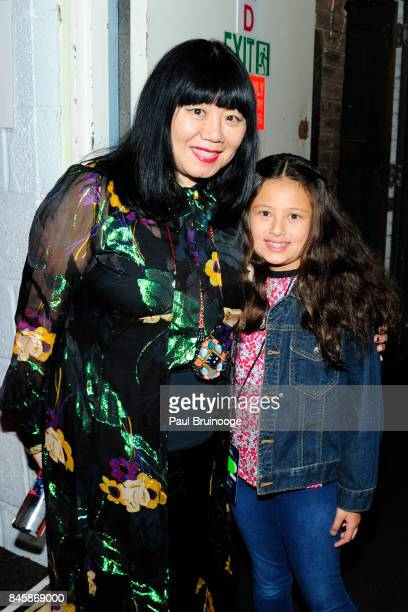 Anna Sui backstage at the Anna Sui show during New York Fashion Week The Shows attends Daily Front Row's Fashion Media Awards at Skylight Clarkson Sq...