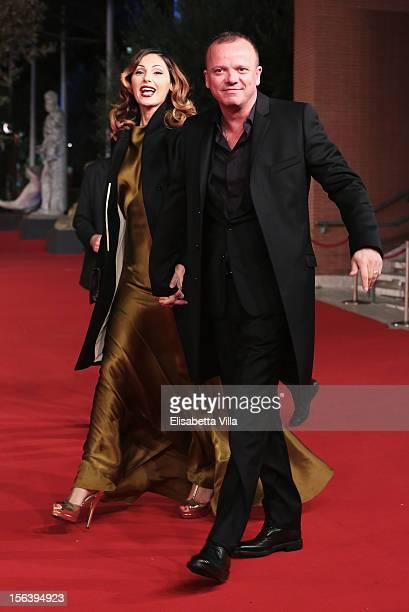 Anna Tatangelo and Gigi d'Alessio attend the 'E La Chiamano Estate' Premiere during the 7th Rome Film Festival at the Auditorium Parco Della Musica...