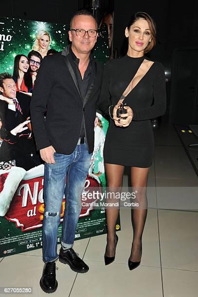 Anna Tatangelo and Gigi D'Alessio attend 'Un Natale Al Sud' Red Carpet In Rome on December 1 2016 in Rome Italy