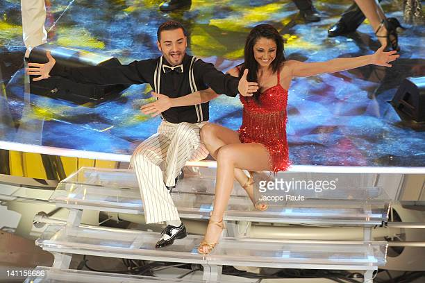 Anna Tatangelo and Stefano Di Filippo attend 'Premio TV 2012' Ceremony Award held at Teatro Ariston on March 11 2012 in Sanremo Italy