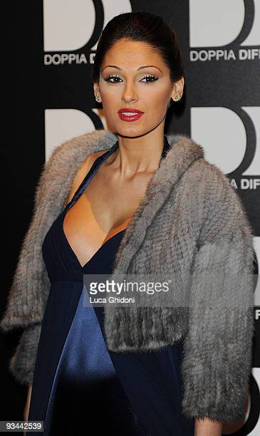 Anna Tatangelo attends 'Doppia Difesa' charity gala event on November 26 2009 in Milan Italy