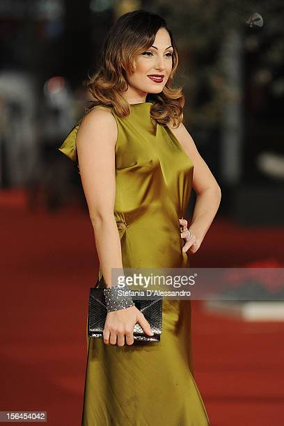 Anna Tatangelo attends 'E La Chiamano Estate' Premiere at Auditorium Parco Della Musica on November 14 2012 in Rome Italy