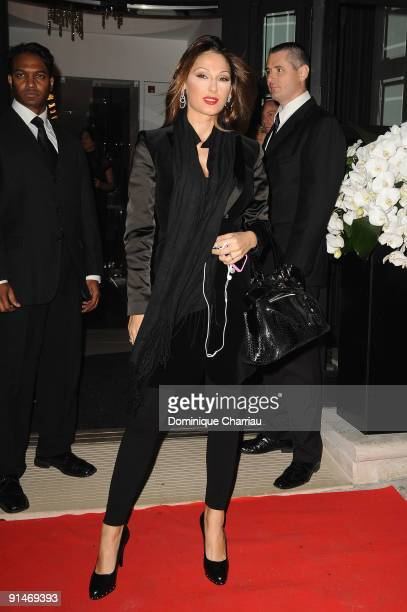 Anna Tatangelo attends John Richmond Cocktail as part of the Paris Womenswear Fashion Week on October 5 2009 in Paris France
