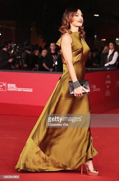 Anna Tatangelo attends the 'E La Chiamano Estate' Premiere during the 7th Rome Film Festival at the Auditorium Parco Della Musica on November 14 2012...