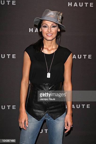 Anna Tatangelo attends the Haute Milan Fashion Week Womenswear S/S 2011 show on September 23 2010 in Milan Italy