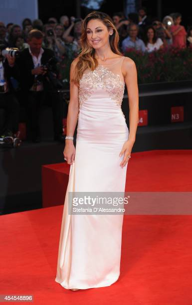 Anna Tatangelo attends the 'Le Dernier Coup De Marteau' premiere during the 71st Venice Film Festival on September 3 2014 in Venice Italy