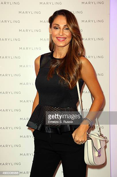 Anna Tatangelo attends the Maryling presentation as part of Milan Fashion Week Spring/Summer 2016 on September 25 2015 in Milan Italy