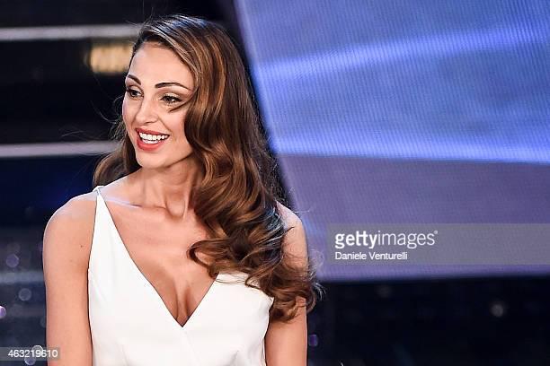 Anna Tatangelo attends the second night of the 65th Festival di Sanremo 2015 at TeatroAriston on February 11 2015 in Sanremo Italy