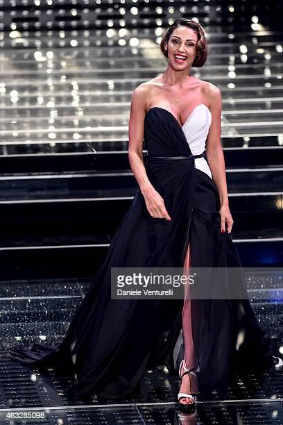 Anna Tatangelo attends the thirth night of 65th Festival di Sanremo 2015 at Teatro Ariston on February 12 2015 in Sanremo Italy