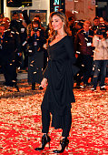 Anna Tatangelo during the catwalk before the start of the sixtyfifth festival of Italian song of Sanremo on February 9 2015